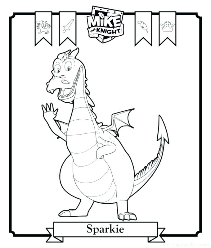 680x800 Meta Caballero Para Colorear Knight Coloring Pages Mike The Knight