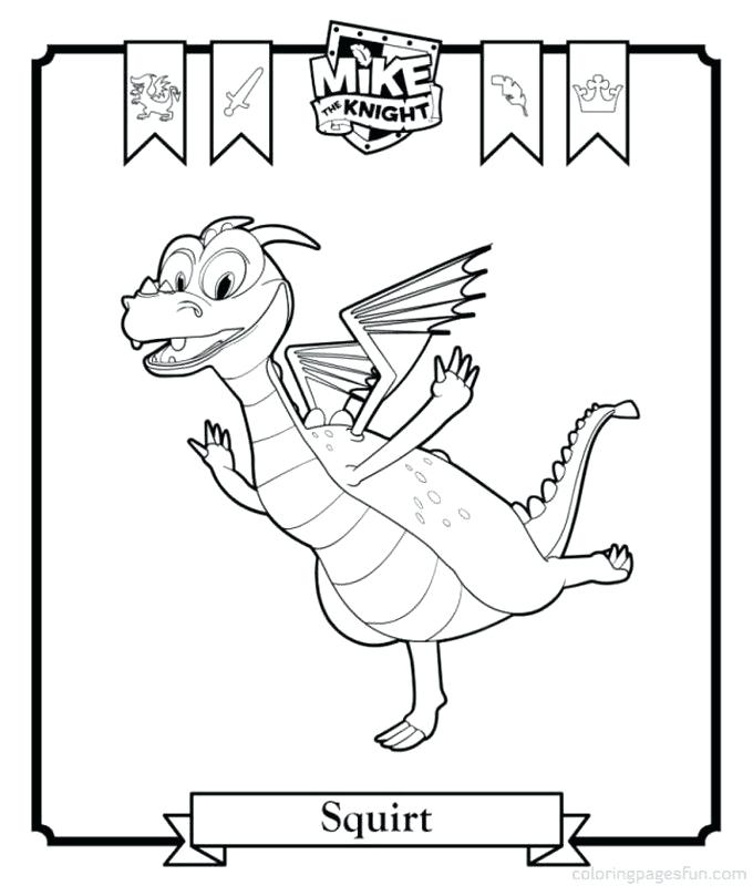 680x800 Meta Caballero Para Colorear Mike The Knight Coloring Pages Free