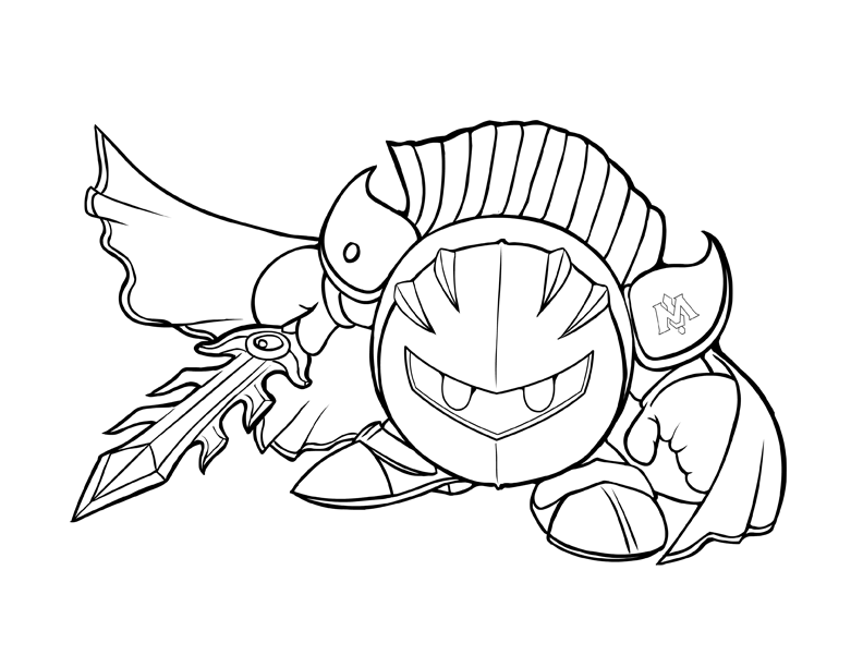 792x612 Meta Knight Coloring Pages