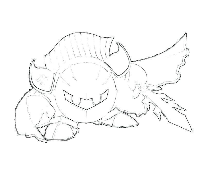 800x667 Meta Knight Coloring Pages Meta Knight Free Colouring Pages