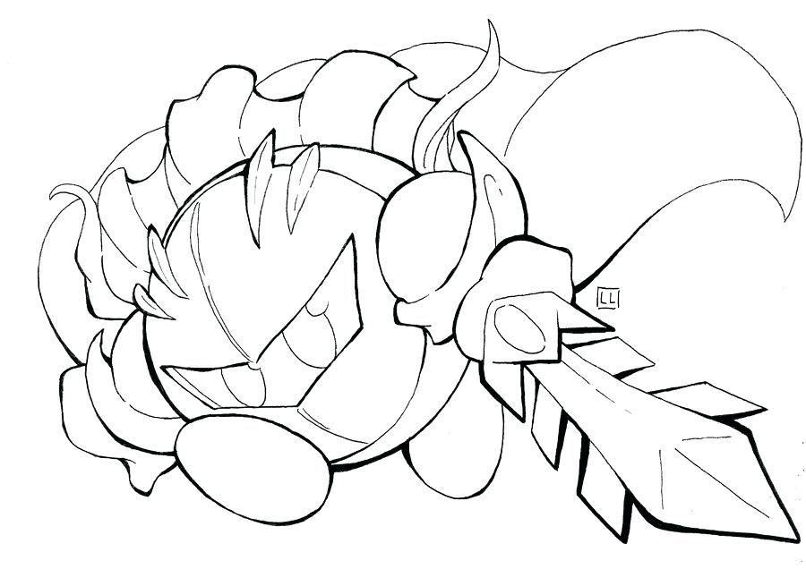 900x636 Cat Knight Coloring Page Meta Knight Coloring Pages Meta Knight