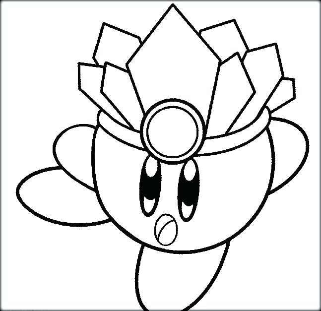 647x627 Kirby Coloring Pages Coloring Pages Animated Ice Image To Color
