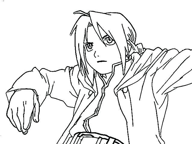 638x478 Fullmetal Alchemist Brotherhood Coloring Pages Metal Anime Zone