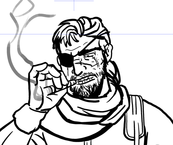 600x502 Metal Gear Solid Sketch