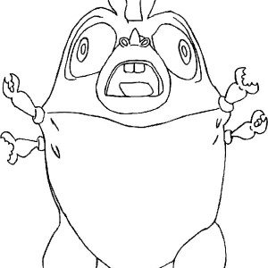 300x300 Susan Running Away From Meteor In Monster Vs Aliens Coloring Page