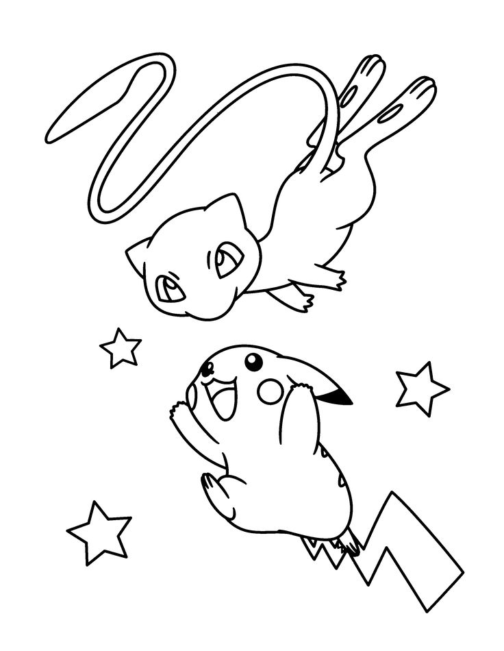 Mew Coloring Pages