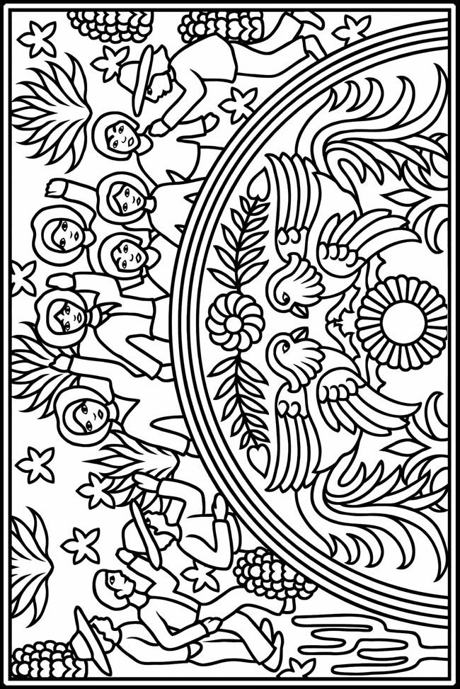 Mexican Art Coloring Pages