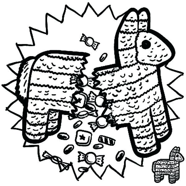 600x600 Coloring Pages Mexico Stunning Pinata Coloring Page About Remodel