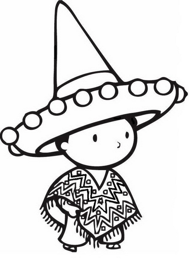 615x860 Mexican Culture Coloring Pages Elegant Mexican Boy Drawing
