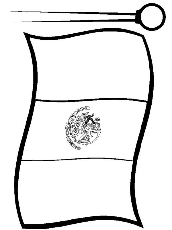 600x800 Mexican Flag Print Out Free Colorable Mexican Flag Coloring