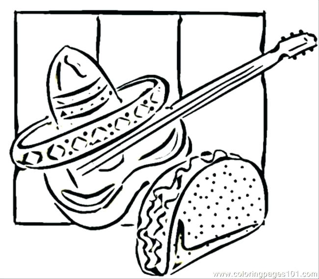 650x568 Mexican Food Coloring Pages Coloring Pages Identical Coloring