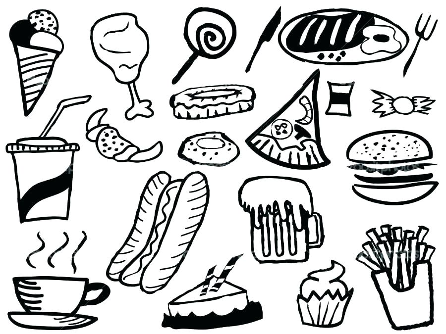 900x675 Printable Food Coloring Pages Coloring Pages Food Fast Food