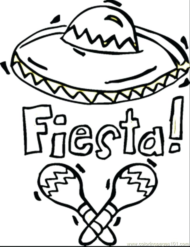 650x846 Mexican Food Coloring Pages