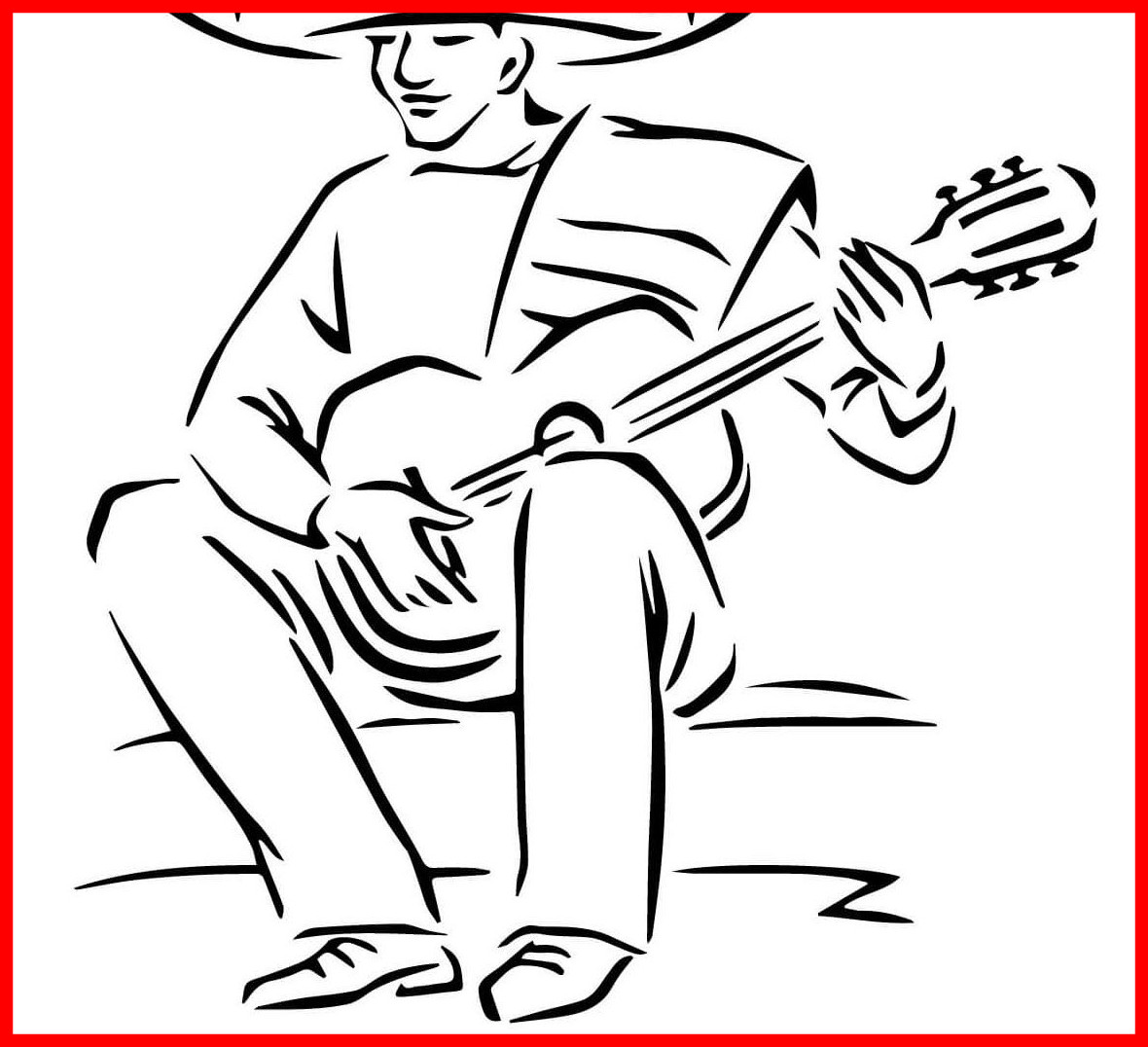 1180x1076 The Best Music Coloring Pages Printable Books Picture Of Maracas