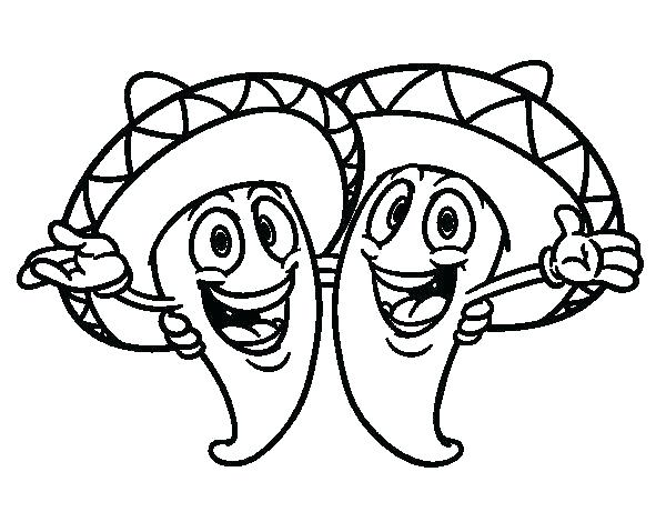 600x470 Mexican Coloring Pages Coloring Page New Coloring Pages Full Size