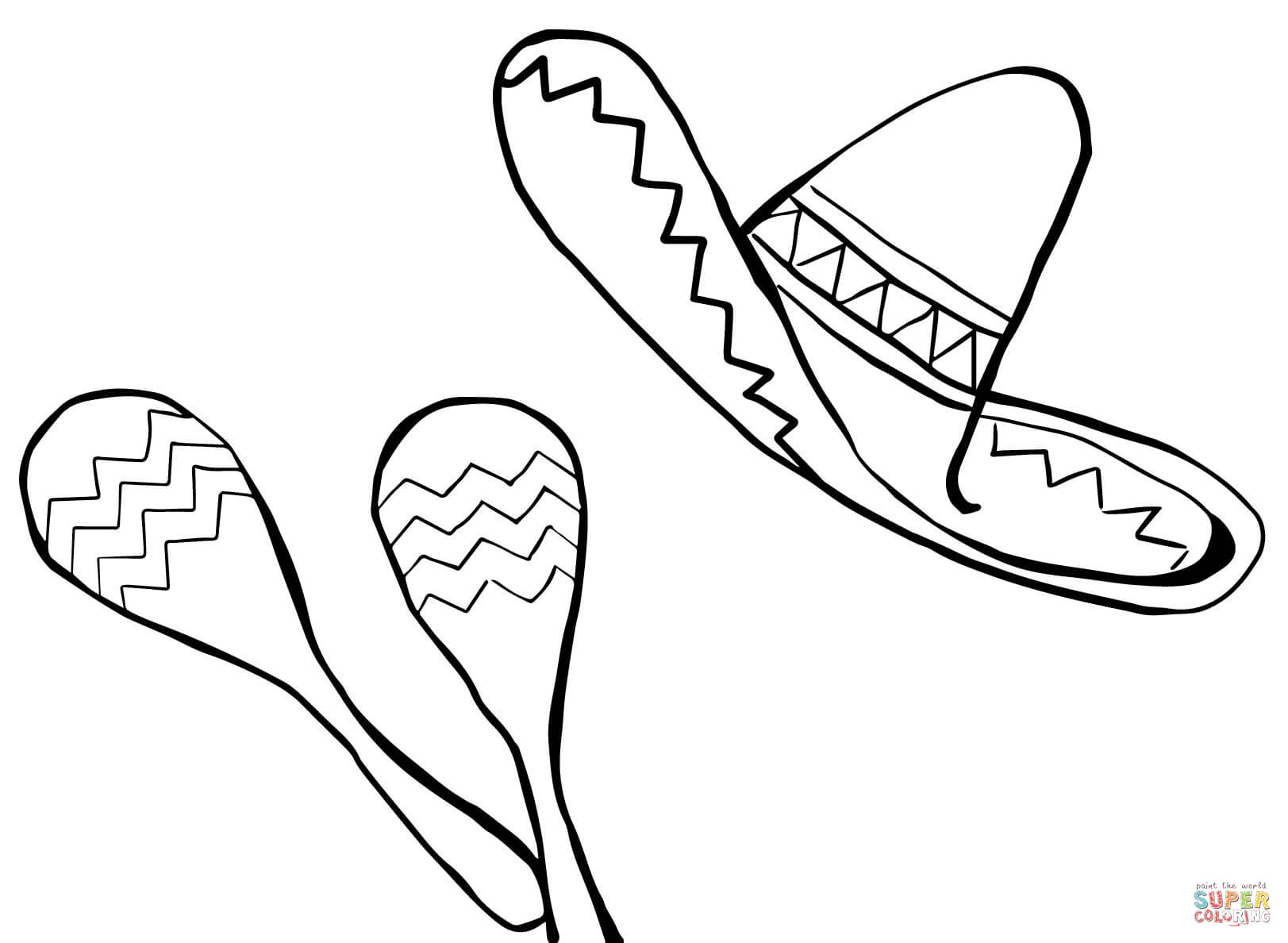 Mexican Hat Coloring Page