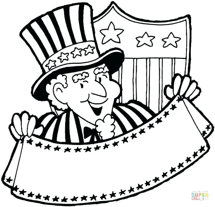 720x694 Independence Day Coloring Pages Veterans Day Coloring Pages