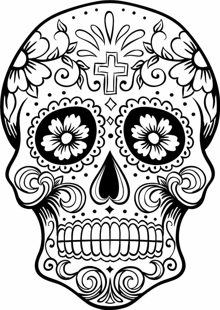 736x1034 Sugar Skull Coloring Page Sugar Skull Sugar Skulls