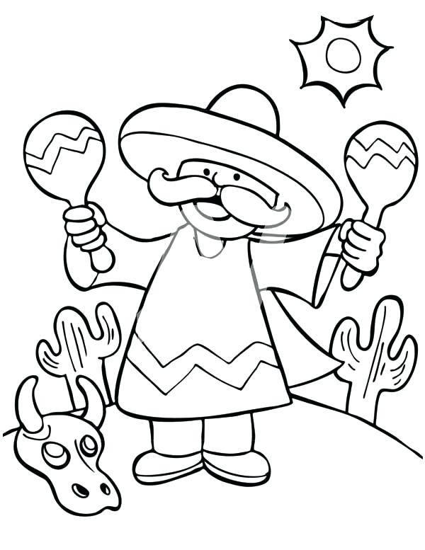 600x777 Mexican Coloring Pages Pictures To Print And Color Mexican