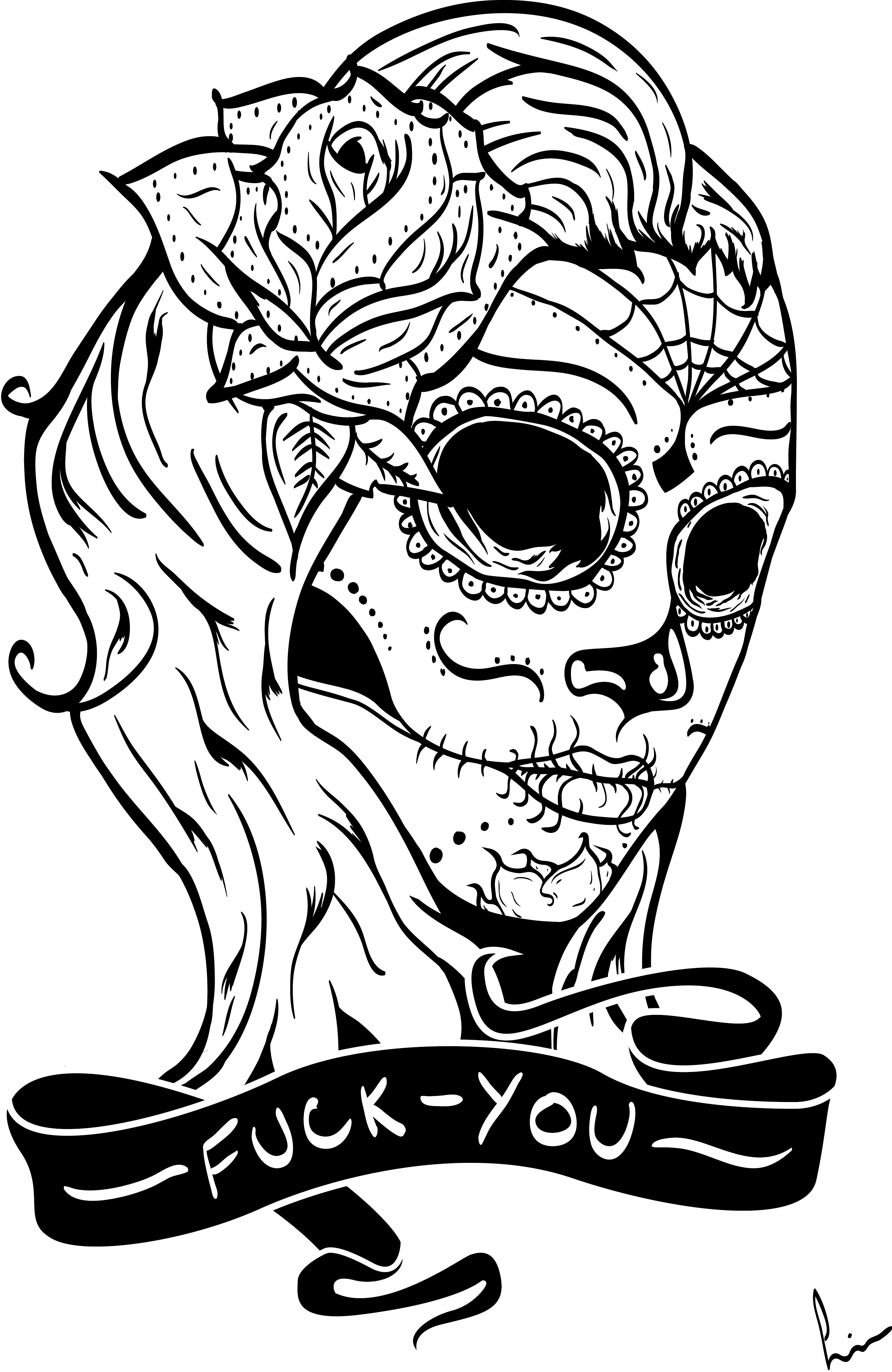 mexican sugar skull coloring pages at getdrawings free