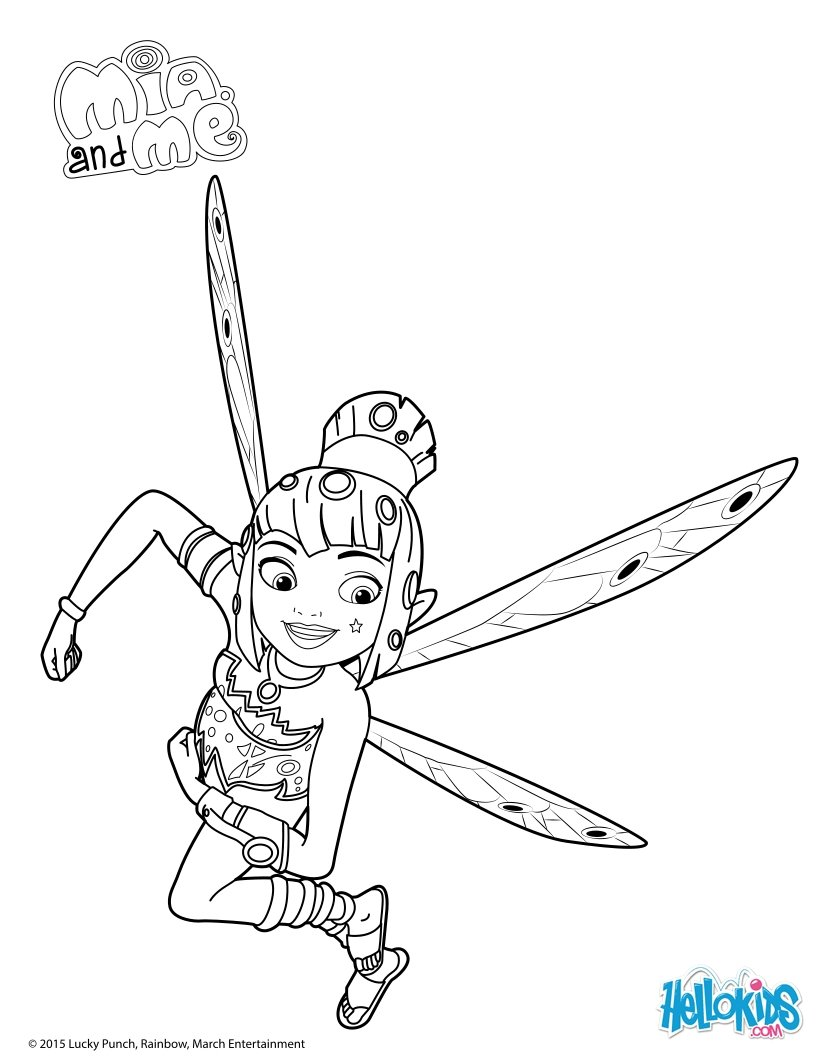 Mia And Me Coloring Pages At Getdrawings Com Free For Personal Use
