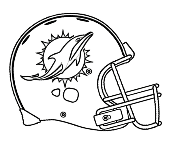 600x531 Football Miami Dolphins Coloring Page Kids Coloring Pages