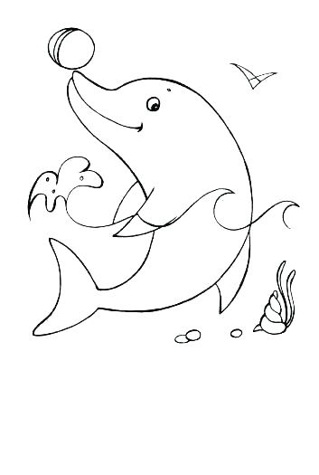 353x525 Interesting Dolphins Coloring Page Dolphin And Whale Coloring