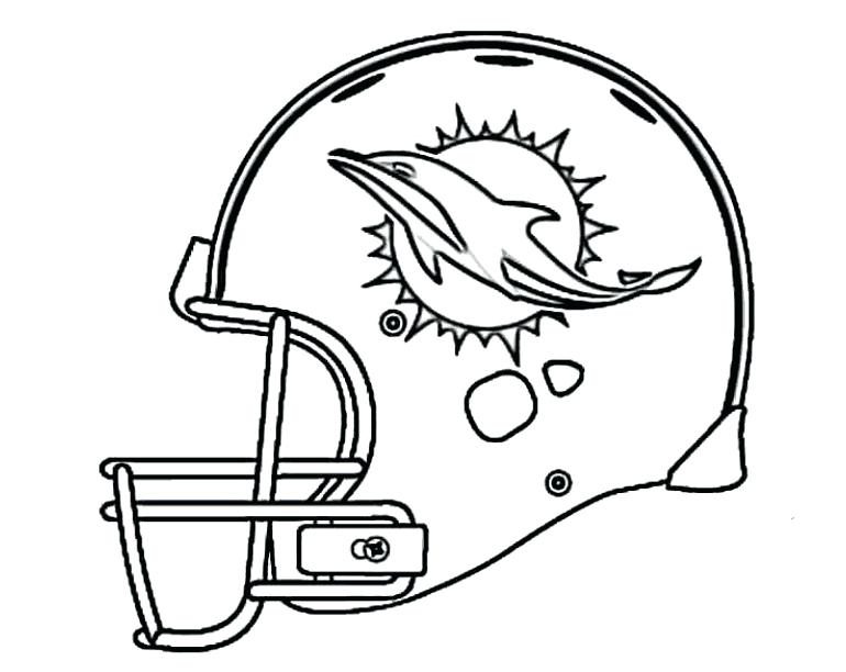 770x612 Miami Dolphins Coloring Pages Football Dolphins Coloring Pages