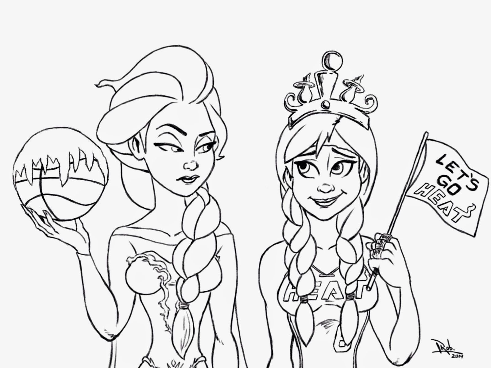 1600x1200 Marvelous Frozen Miami Heat Coloring Page And Printable Pic