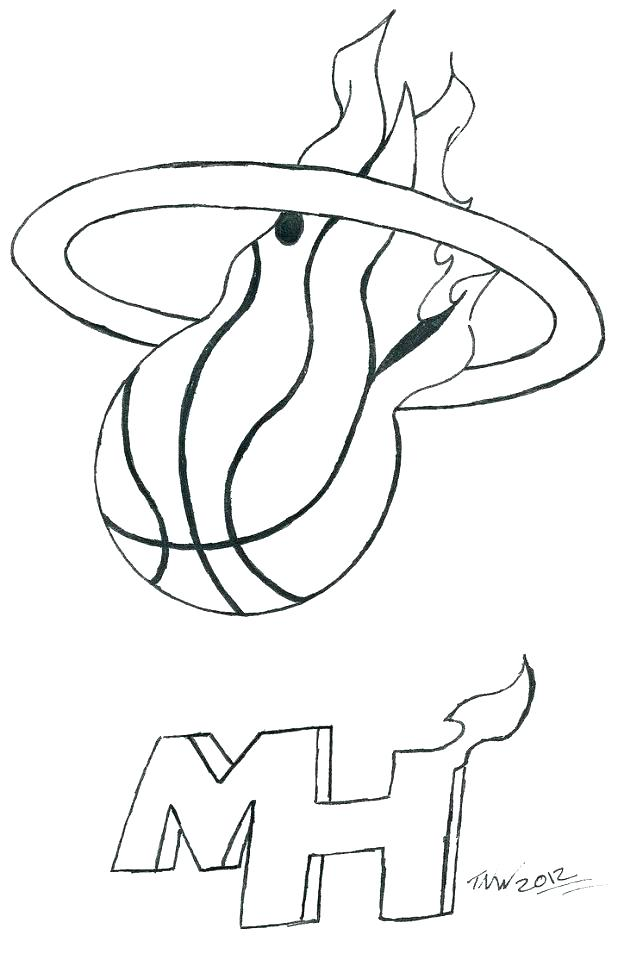 618x960 Miami Heat Colouring Pages Kids Coloring Free Printable Heat