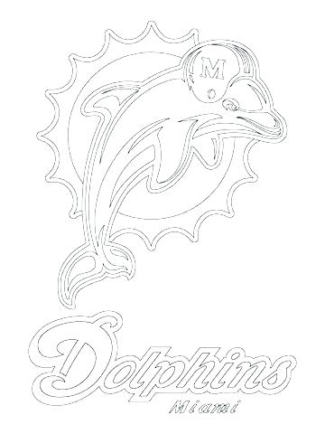 360x480 Miami Dolphin Logo Coloring Pages