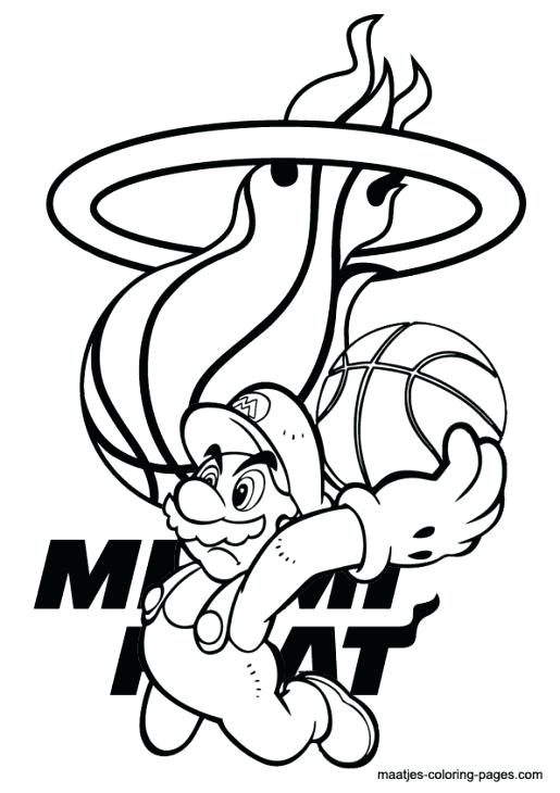 515x730 Miami Heat Colouring Pages Kids Coloring Free Printable Heat