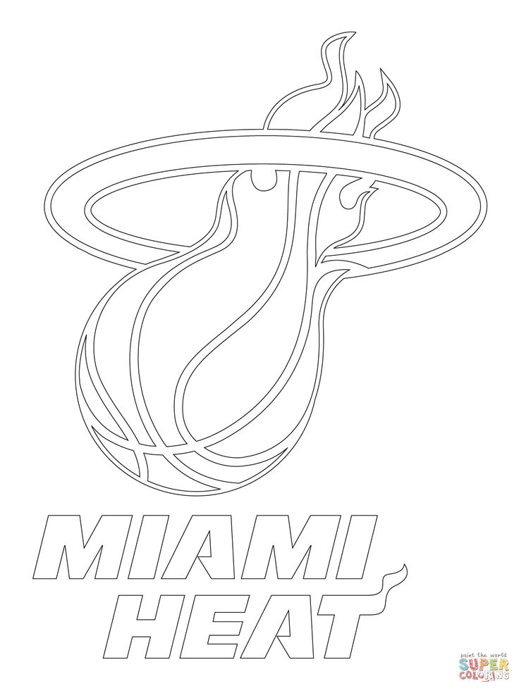 736x981 Printable Miami Heat Coloring Pages Coloring Pages Ideas Miami