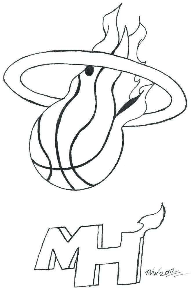 659x1024 Miami Heat Logo Coloring Page