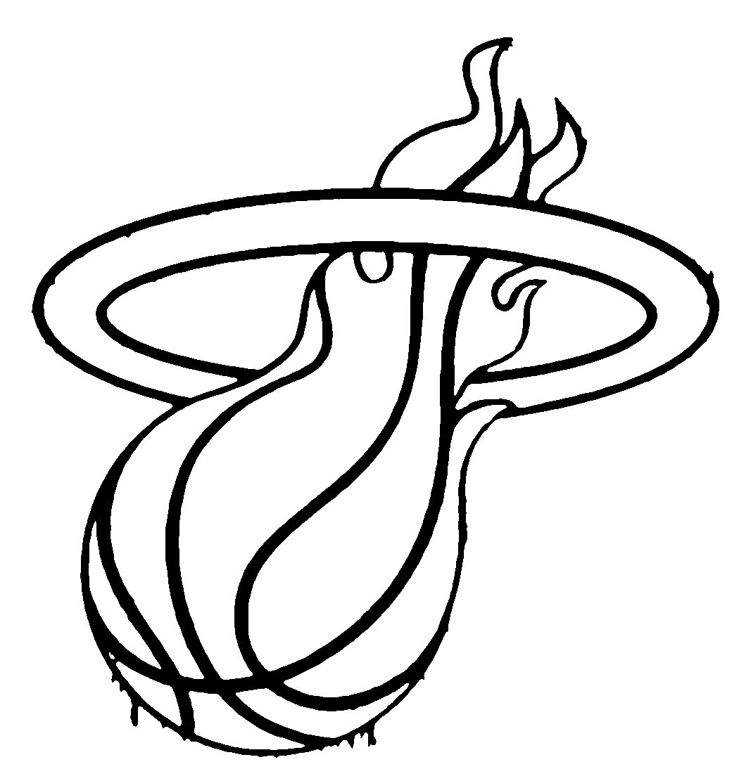 1050x1094 Best Miami Heat Basketball Coloring Pages Free Printable
