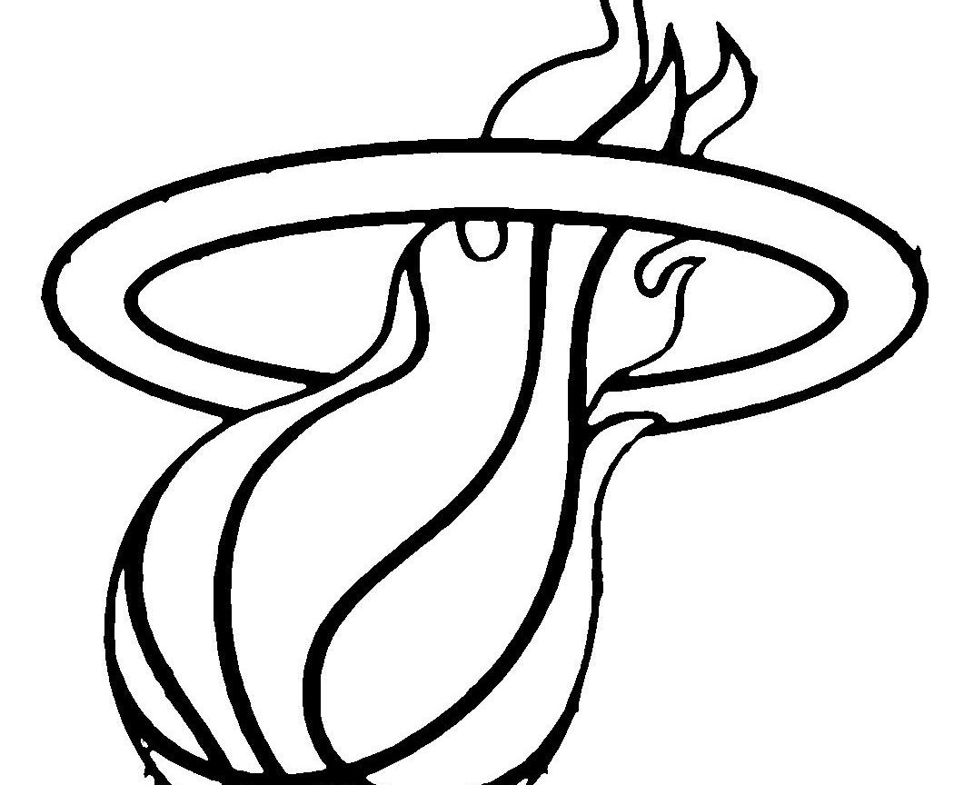 1050x864 College Football Logo Coloring Pages Ebcs Miami Heat And Nba