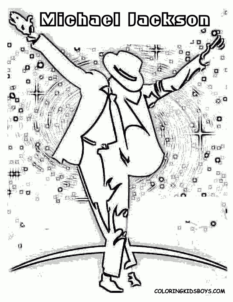 Michael Jackson Coloring Pages At Getdrawings Free Download