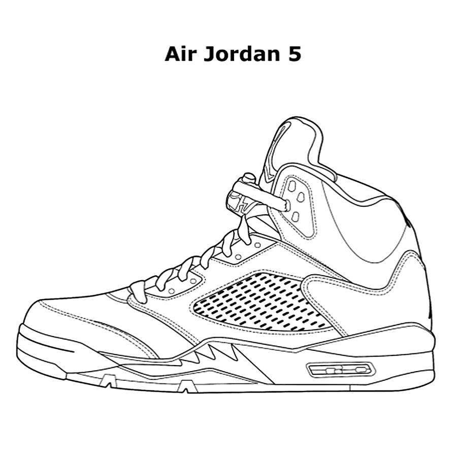 Michael Jordan Shoes Coloring Pages At Getdrawings Com