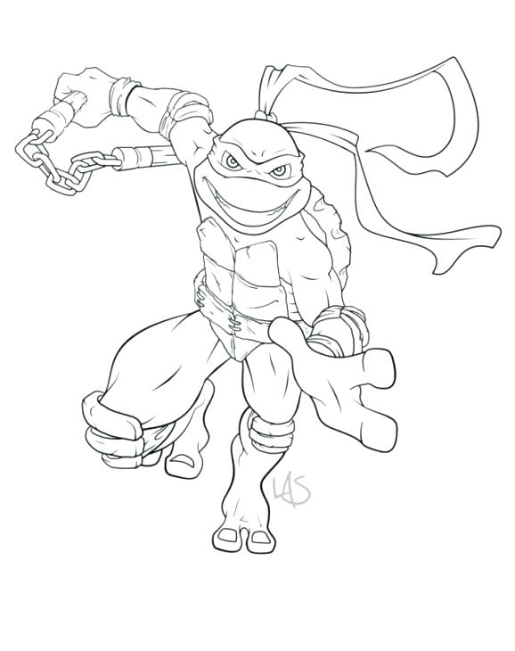 578x730 Michelangelo Colouring Pages Printable Coloring Turtle Color
