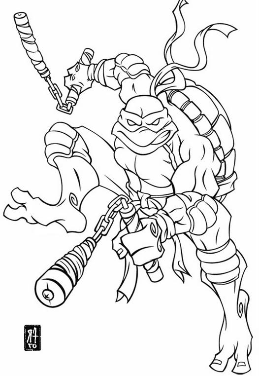 526x762 Michelangelo Teenage Mutant Ninja Turtles Coloring Pages