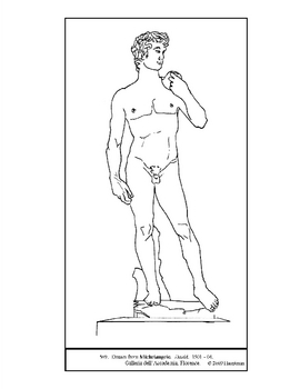 270x350 Michelangelo David Coloring Page And Lesson Plan Ideas Tpt