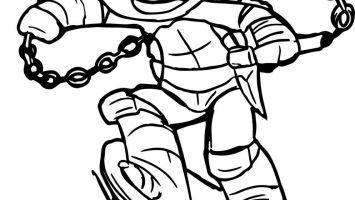 355x200 Stunning Tmnt Michelangelo Coloring Pages Pictures