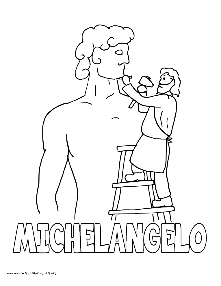 765x990 History Coloring Pages Volume Michelangelo, Study Ideas