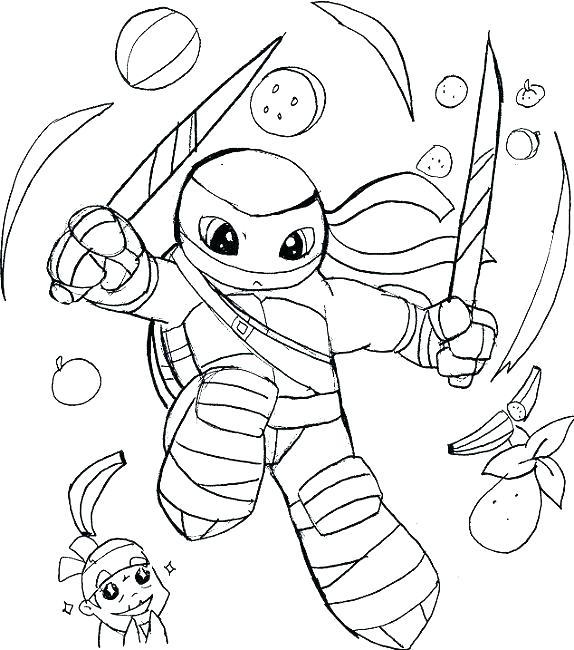 574x650 Michelangelo Ninja Turtle Coloring Pages Printable Coloring Ninja