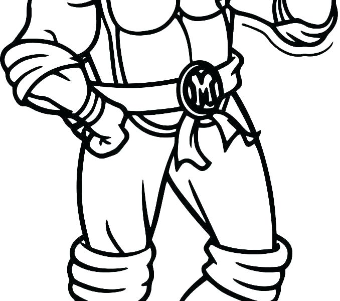678x600 Free Printable Ninja Turtle Coloring Pictures Michelangelo Ninja