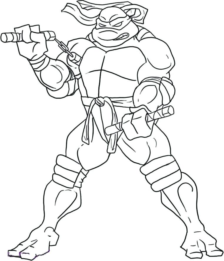 762x889 Michelangelo Coloring Page Coloring Pages Ninja Turtle Coloring