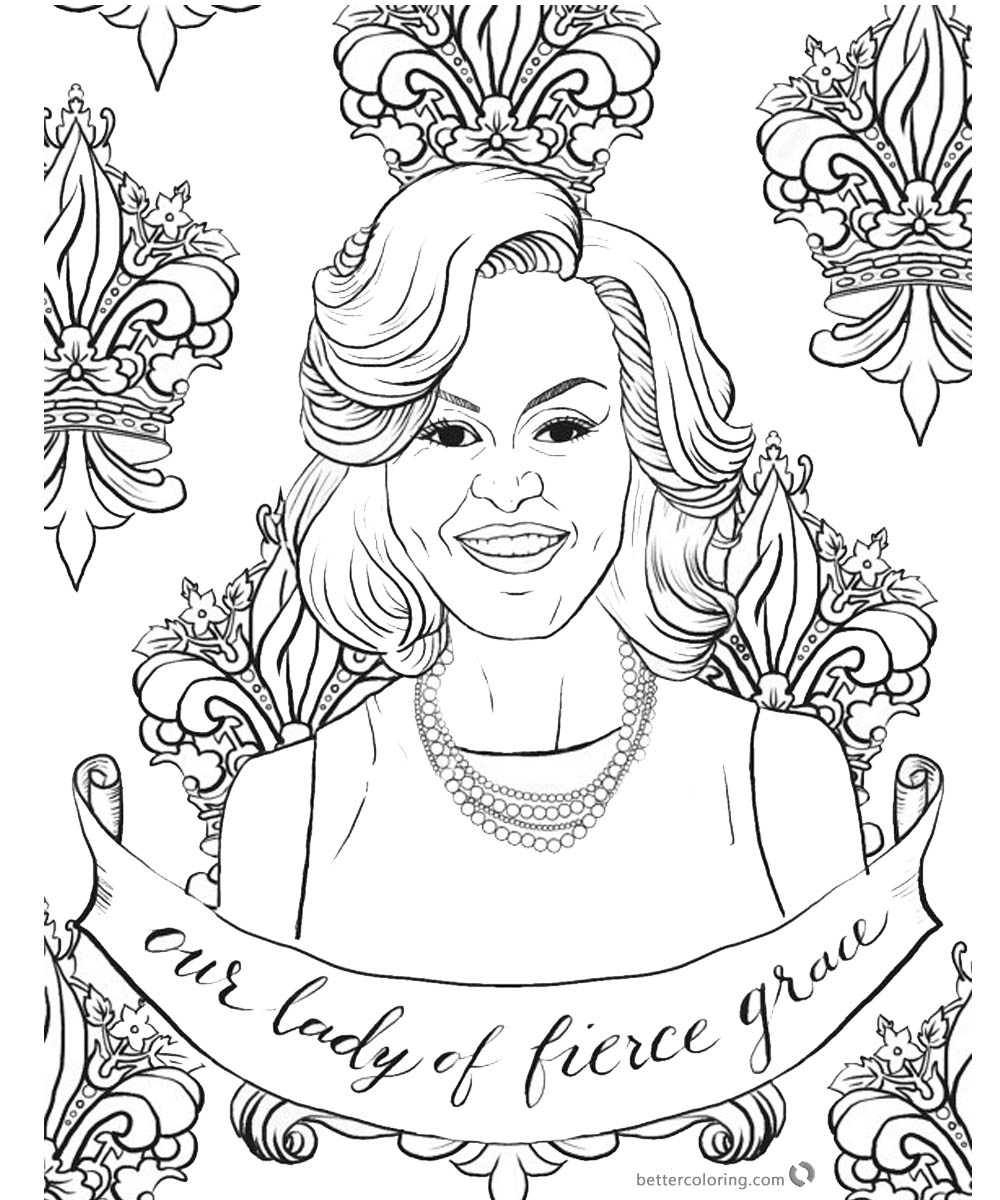 1000x1200 Michelle Obama Coloring Page Graceful Lady
