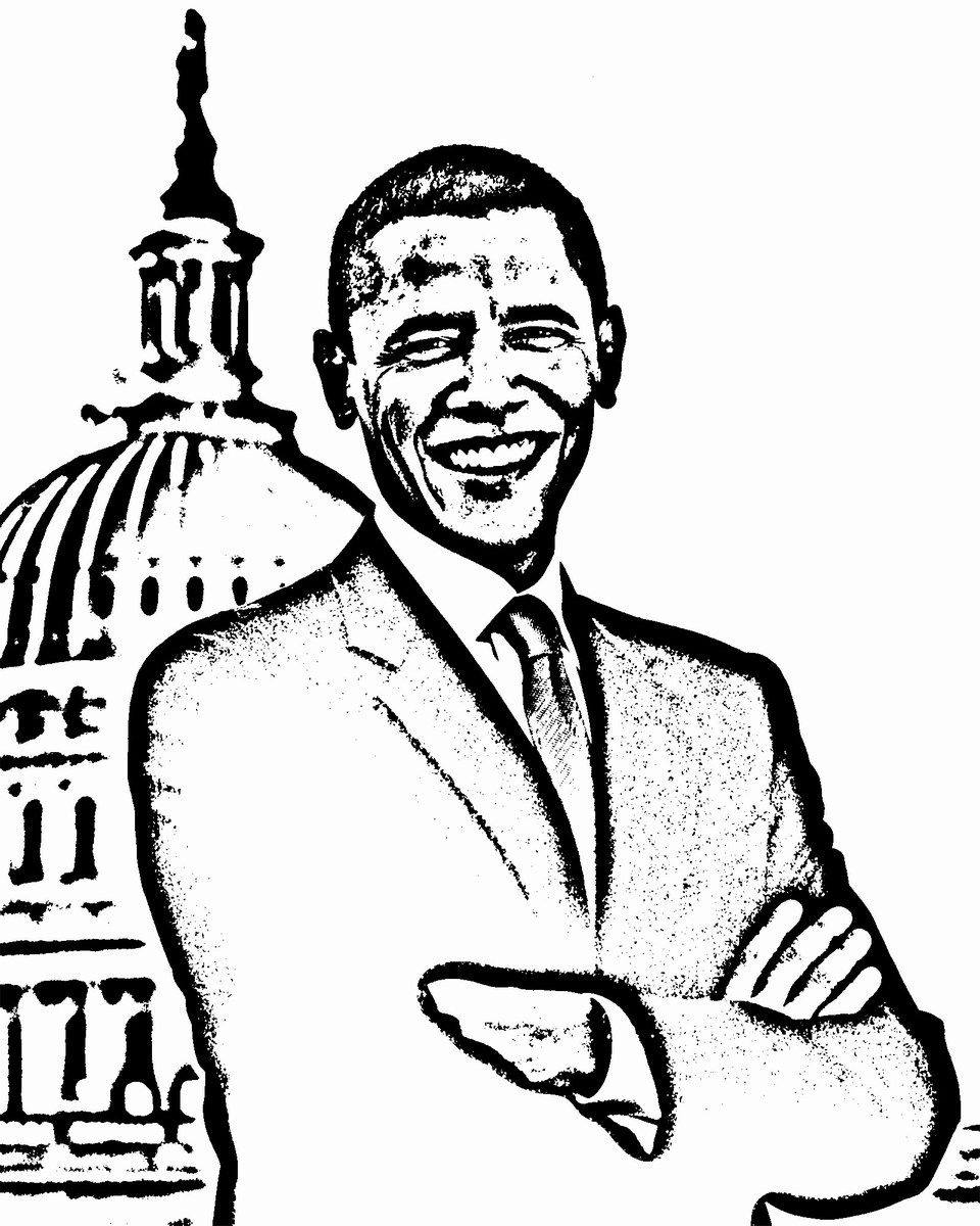 960x1200 Michelle Obama Coloring Pages