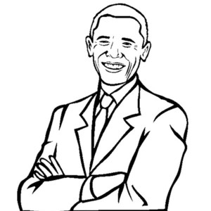 300x300 Barack Obama Coloring Page Printable Coloring Pages
