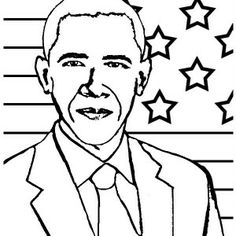 236x236 Barack Obama Coloring Pages For Kids, Printable Free Coloring